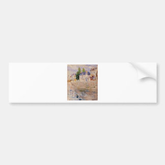 The Quay at Bougival by Berthe Morisot Bumper Sticker