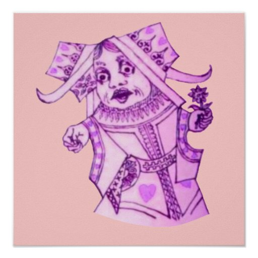 The Queen by Lewis Carroll Print