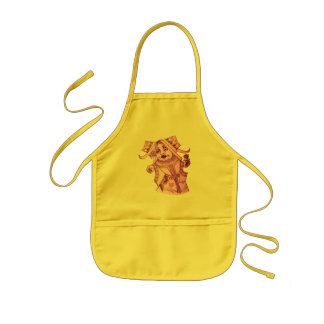 The Queen by Lewis Carroll Purple Tint Kids Apron