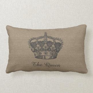 The Queen Canvas-Look Pillow