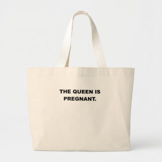 THE QUEEN IS PREGNANT png Canvas Bags
