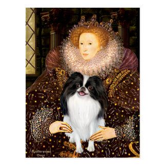 The Queen - Japanese Chin 3 Postcard