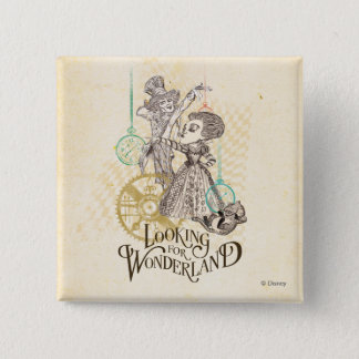 The Queen & Mad Hatter | Looking for Wonderland 15 Cm Square Badge