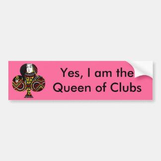 The Queen of Clubs Bumper Sticker