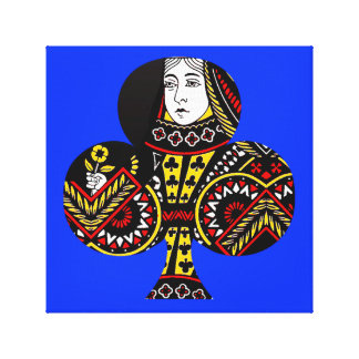 The Queen of Clubs Gallery Wrap Canvas