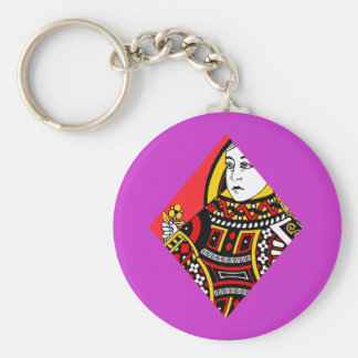 The Queen of Diamonds Keychains