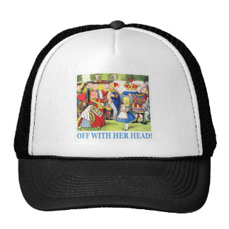 THE QUEEN OF HEARTS AYS OFF WITH HER HEAD MESH HAT