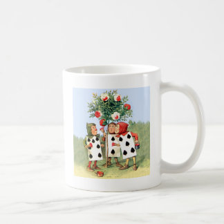 The Queen of Heart's Cardmen Paint Her Roses Red Coffee Mugs