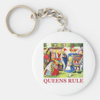 """The Queen of Hearts says, """"Queens Rule!"""" Key Ring"""