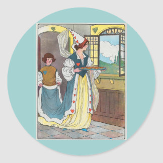 The Queen of Hearts, She made some tarts Classic Round Sticker