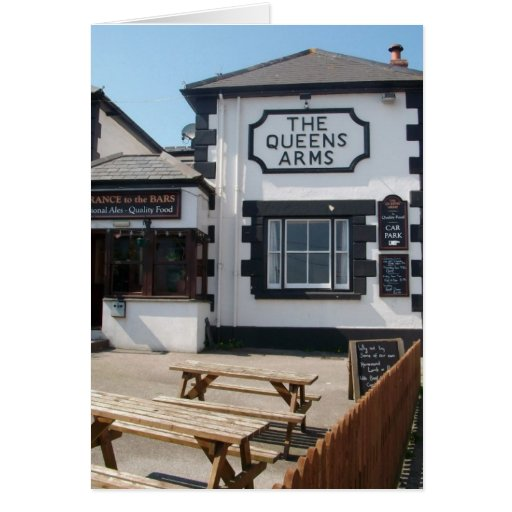 THE QUEENS ARMS CARD