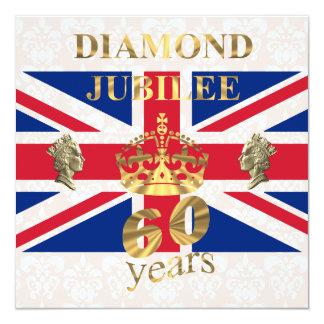 The Queens Diamond Jubilee 13 Cm X 13 Cm Square Invitation Card