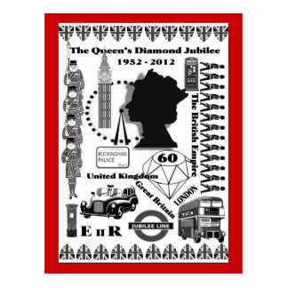 The Queens Diamond Jubilee Commemorative Postcard