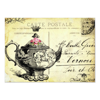 tHe QUeeN's TeA PaRTy 13 Cm X 18 Cm Invitation Card