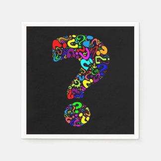 The Question Mark Disposable Serviettes