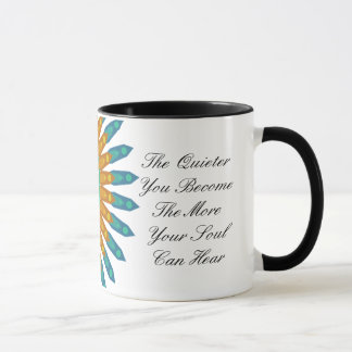 The Quieter you Become, Spiritual Quote Mug