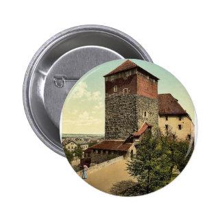 The Quintagonal tower (i.e. Funfeckiger Turm), Nur Pinback Button
