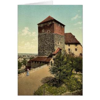 The Quintagonal tower (i.e. Funfeckiger Turm), Nur Card