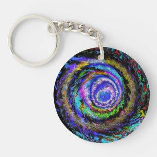 The Rabbit Hole Single-Sided Round Acrylic Keychain