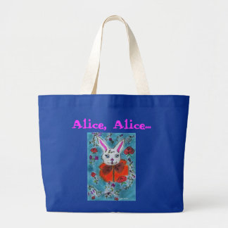 The rabbit of Alice to the countries of the wonder Jumbo Tote Bag