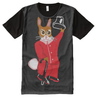 The Rabbit Tips His Hat, In Color All-Over Print T-Shirt
