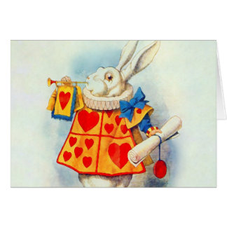 The Rabbitt in Alice in Wonderland ~ Card
