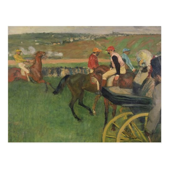 The Race Course - Amateur Jockeys Postcard