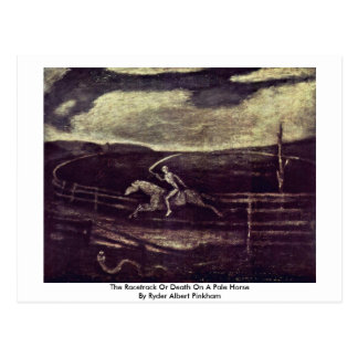 The Racetrack Or Death On A Pale Horse Postcard