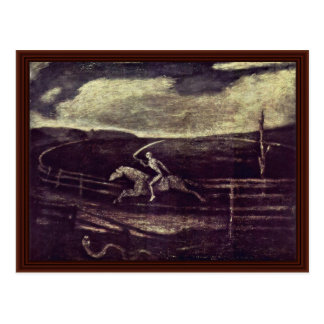 The Racetrack Or Death On A Pale Horse Post Card