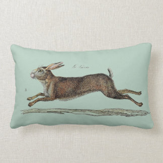 The Racing Hare at Easter Lumbar Cushion