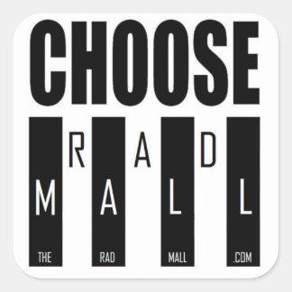 "The Rad Mall ""Choose Rad Mall"" Stickers"