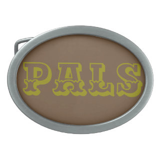 """The Rad Mall """"PALS"""" Western Belt Buckle"""