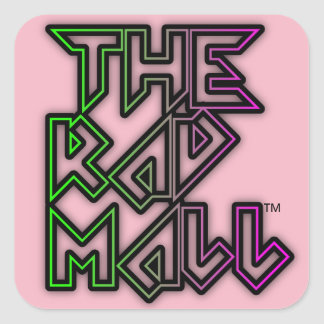 "The Rad Mall ""Rocker"" Logo Small Stickers (Pink)"