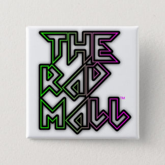 "The Rad Mall ""Rocker"" Logo Square Button"