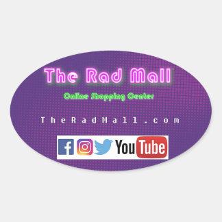 "The Rad Mall ""Website"" Oval Sticker"