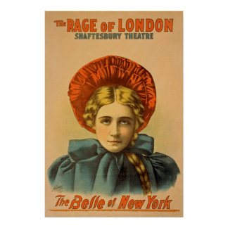 The Rage Of London Vintage Performing Arts Poster