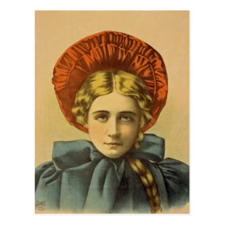 The Rage Of London Woman Portrait Vintage Postcard
