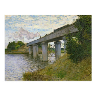 The Railway Bridge at Argenteuil, 1874 Postcard