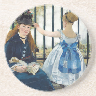 The Railway by Edouard Manet 1873 Drink Coasters