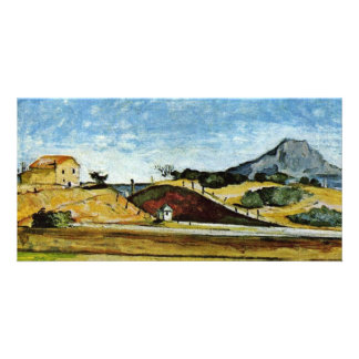 The Railway Cutting By Paul Cézanne (Best Quality) Photo Card Template