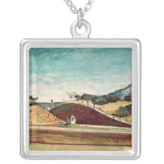 The Railway Cutting, c.1870 Silver Plated Necklace