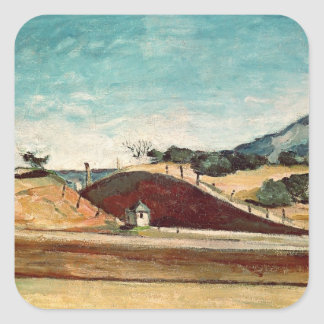 The Railway Cutting, c.1870 Square Sticker