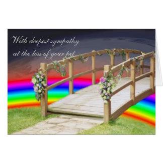 The rainbow bridge card