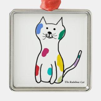 The Rainbow Cat Christmas Tree Ornament