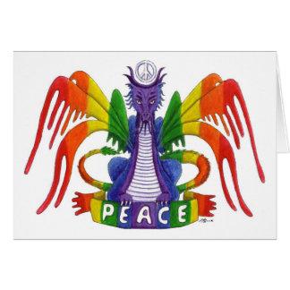 The Rainbow Peace Dragon Card