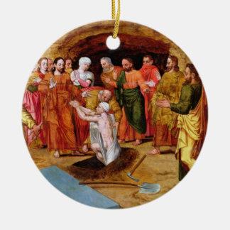 The Raising of Lazarus Ceramic Ornament