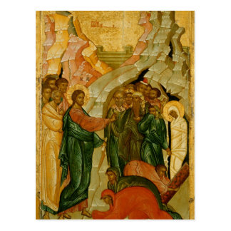The Raising of Lazarus, Russian icon Postcard