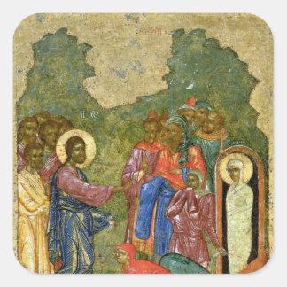 The Raising of Lazarus Russian icon Stickers