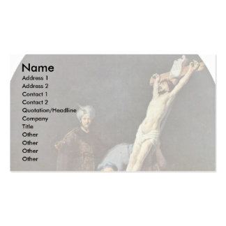 The Raising Of The Cross. By Rembrandt Van Rijn Business Card Template