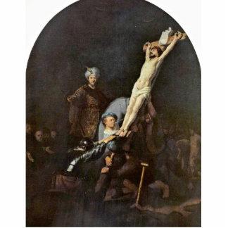 The Raising Of The Cross. By Rembrandt Van Rijn Standing Photo Sculpture